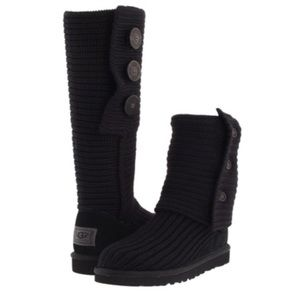 Ugg Australia knit Classic Cardy boots Size 8